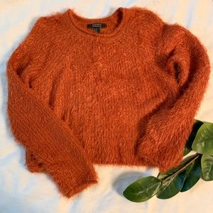 Forever 21 Rust Colored Fuzzy Sweater • Size M